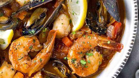 seafood cioppino fish stew youtube