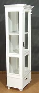 Vitrine Landhausstil Weiß : vi106 vitrine sammelvitrine landhausstil weiss 50 ~ Whattoseeinmadrid.com Haus und Dekorationen