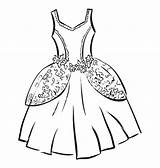 Dress Outline Wedding Clipart Corset Template Coloring Pages Templates Clipartion Sketch sketch template