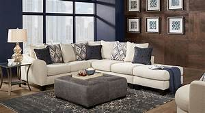 Cream sectional sofa 8303 reclining sectional sofa in for Sectional sofa for large room