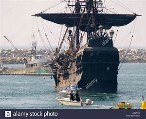 The Disney company ship The Black Pearl, enters Redondo ...