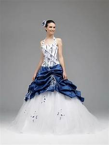 robe de mariee blanche et bleu With robe blanche et bleu
