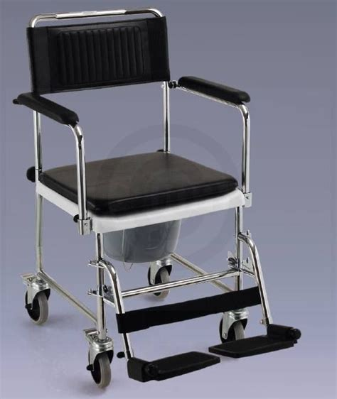 drop arm shower chair commode rolling wheelchair