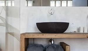 Holz Für Badezimmer : moderne badezimmer im vintage style badezimmer ideen f r h ngewaschtisch holz mit rundem ~ Frokenaadalensverden.com Haus und Dekorationen