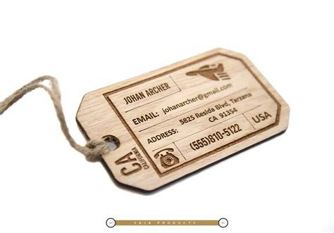 Luggage Tag set of 2 wooden luggage tags saja products