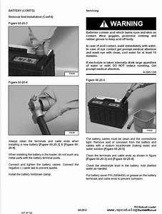 Bobcat 753 G Series Skid Steer Loader Service Manual Pdf