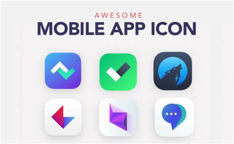 top images mobile app icon design   create