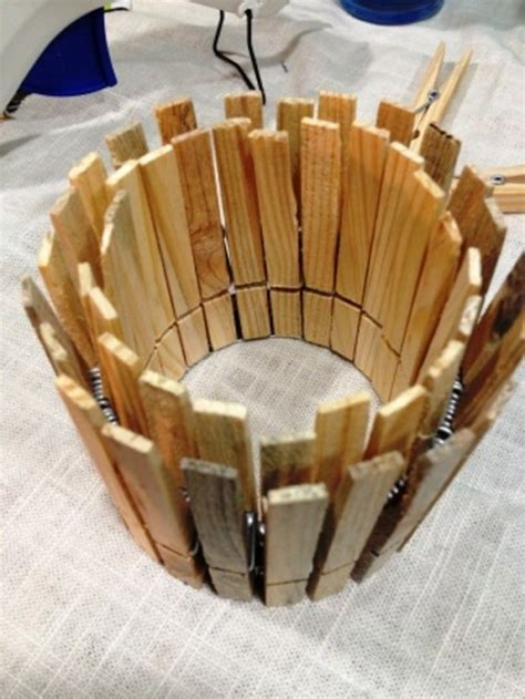 original diy clothespin candle holder shelterness