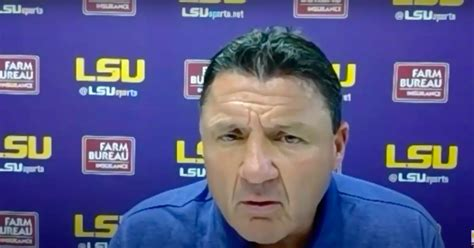 Ed Orgeron asked about coaching changes after blowout loss ...
