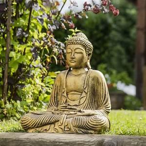 Statue De Bouddha : statue bouddha assis position offrande dor 42 cm ~ Teatrodelosmanantiales.com Idées de Décoration