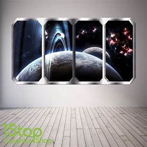 space wall stickers wall art kids With space wall decals