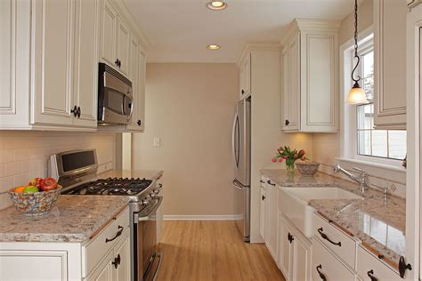 White Cupboards With Stainless Steel Appliances by Farmhouse Kitchen Sink Granite Countertops White