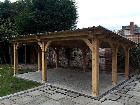 oak framed garden shelter leamington spa shires oak