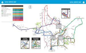 bus route maps city  roseville