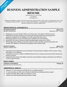 How to write a business administration resume for Business administration resume sample