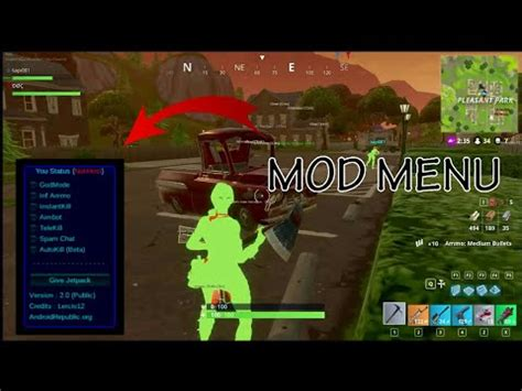 fortnite hack mod menu aimbot godmode  youtube