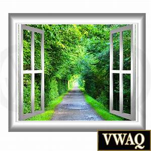3d Wall Art : peaceful walking path window frame 3d wall art serene trees and walking path peel stick home ~ Sanjose-hotels-ca.com Haus und Dekorationen
