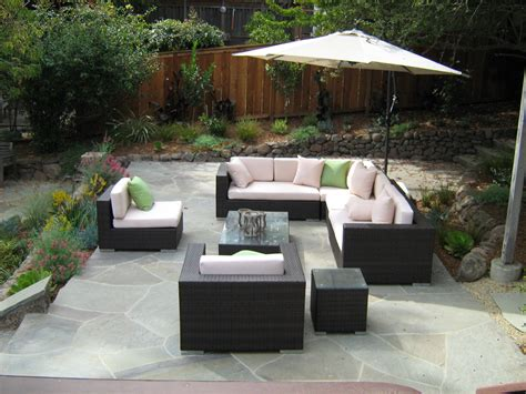 Exterior Furniture by Modern Patio Furniture With Chic Treatment For Fancy House
