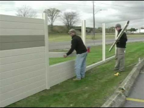 outdoor noise reduction tuf barrier noise barrier wall install residential youtube