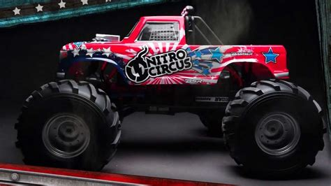 nitro rc monster trucks basher nitro circus mt 1 8th scale rc monster truck youtube