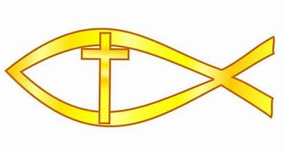 Christian Symbols Cross Clip Clipart Faith Fish