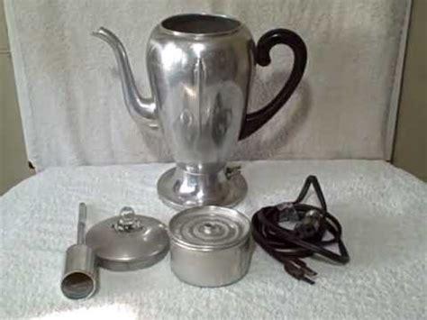 1940's Mirro Matic Electric Percolator Vintage Coffee Pot 9252M 8 Cup Bakelite   YouTube