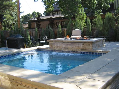 swimming pool features water feature and fire pit denver co pool and spa