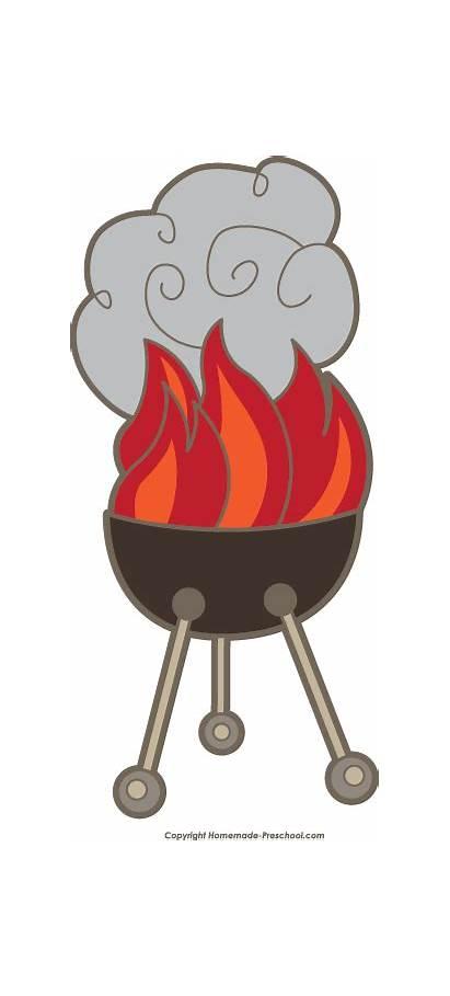 Bbq Grill Clipart Clip Barbecue Fire Cliparts