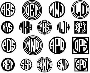 download circle monogram font cricut pinterest With circle monogram maker