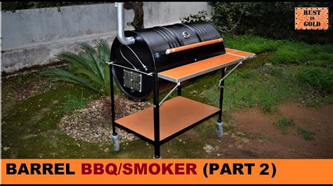 build  barrel bbqsmoker part  youtube