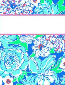 Lilly Pulitzer Binder Cover Templates
