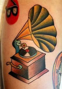 phonograph tattoo tumblr - Google Search | Tattoos ...