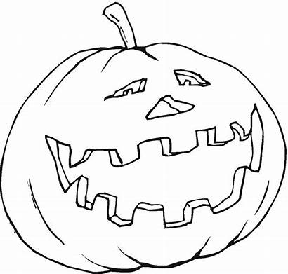 Pumpkin Outline Coloring Drawing Pages Halloween Pumpkins