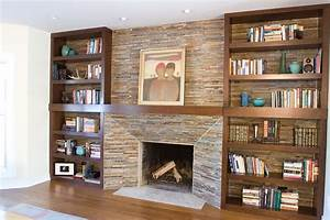 49 Built In Bookcase Around Fireplace, I Added Built In