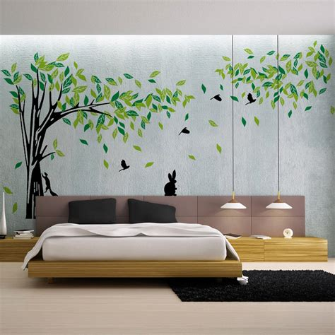 green tree wall sticker large vinyl removable living room
