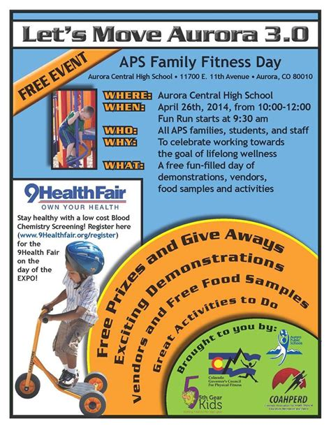 join aps family fitness day april aurora public schools