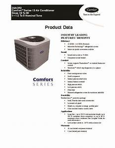 Carrier 24acr3 1pd Heat Air Conditioner Manual