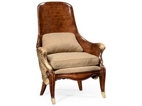Jonathan Charles Versailles Medium Walnut Accent Chair