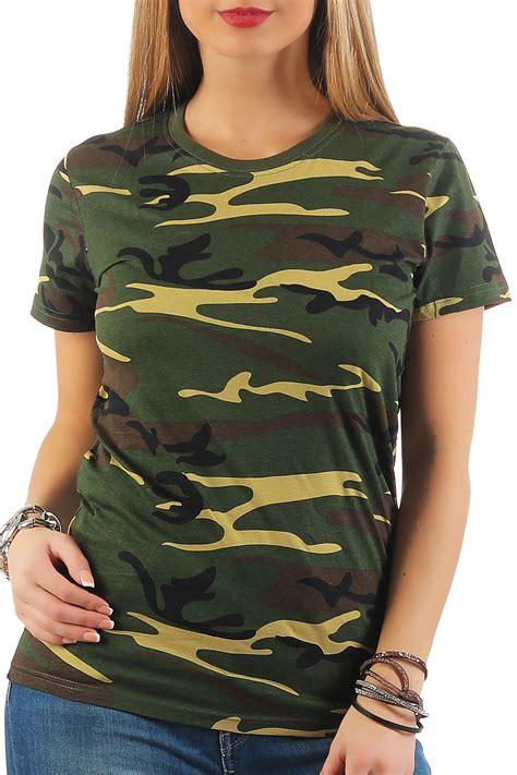 damen camouflage t shirt sunset payper shop