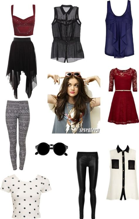 Aria Montgomery PLL by tslover13 liked on Polyvore   PLL Fashion Style   Pinterest   Skirts ...
