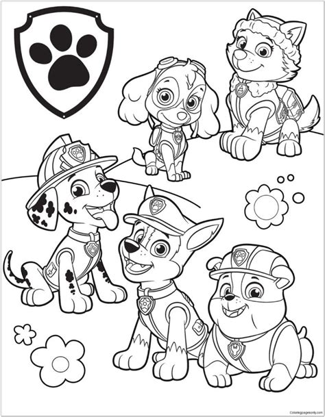 coloring rocks Paw patrol coloring pages Paw patrol