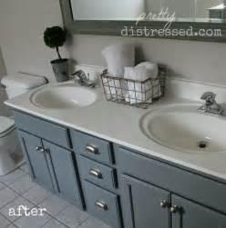 paint bathroom vanity ideas pretty distressed bathroom vanity makeover with paint