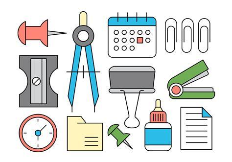 office supplies vector icons   vector art