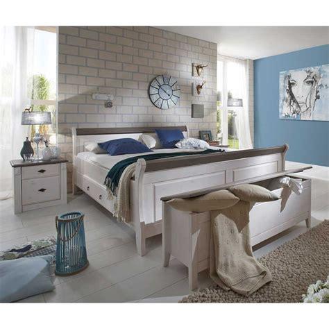 Schlafzimmer Beige Weiß by Schlafzimmer Einrichtung Benfitas In Wei 223 Grau Pharao24 De