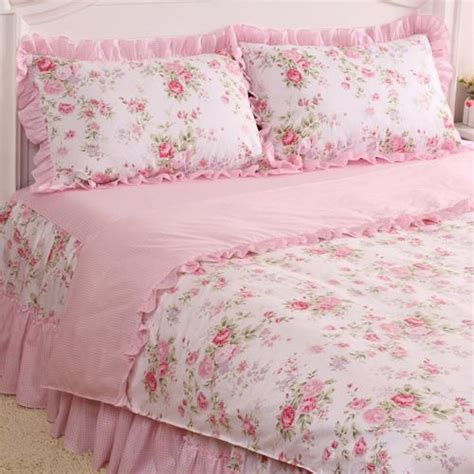 shabby chic princess bedding king queen full twin princess shabby floral chic pink duvet comforter cover set ebay