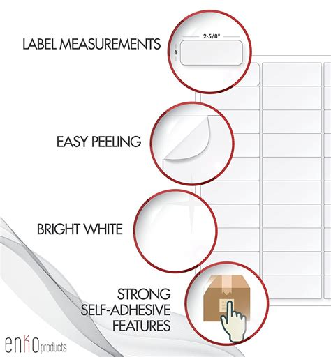 address labels 1 x 2 5 8 same size as compatible avery