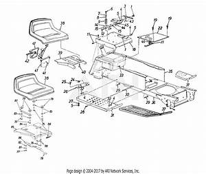 Mtd 14aj84ah062  1998  Parts Diagram For Seat  Frame