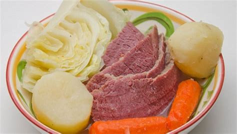 Photos of corned beef and cabbage casserole. Corned Beef Cabbage Recipe from Real Restaurant Recipes