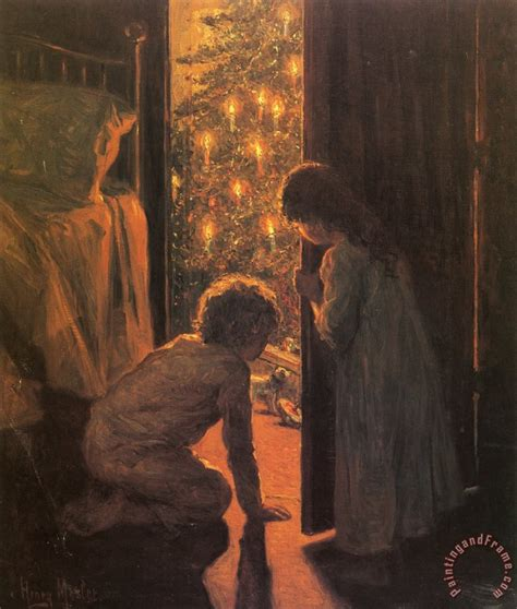 henry mosler the christmas tree painting the christmas