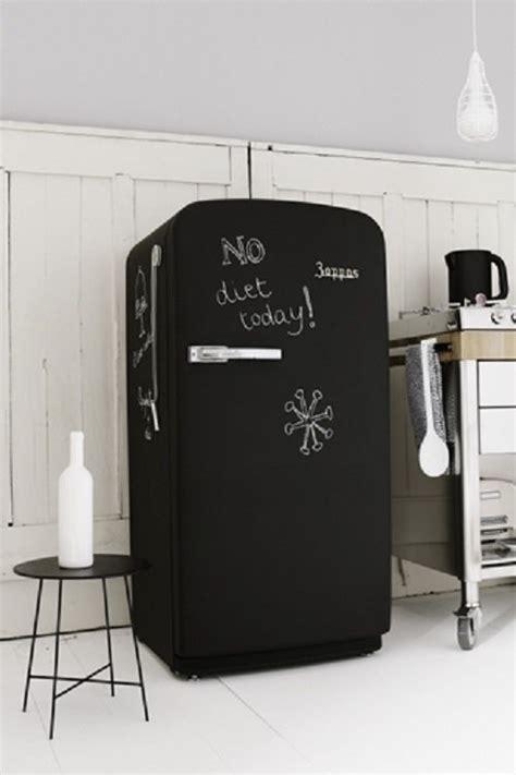 cuisine avec frigo smeg repeindre frigo avec une peinture ardoise dans la